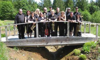 Golden Ears Jazz Band on the bridge for the Maple Ridge Garden Club Celebration 2012